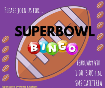 Super Bowl BINGO - Be there!