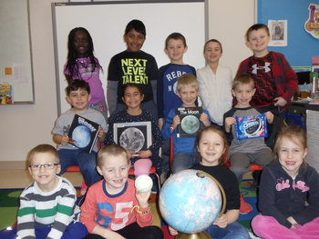 1st graders learn about the moon, sun and stars!