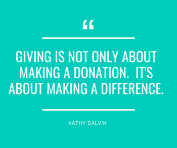 Giving makes a difference!