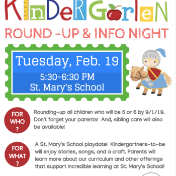 Kindergarten Round-Up and Parent Informational Night - RESCHEDULED