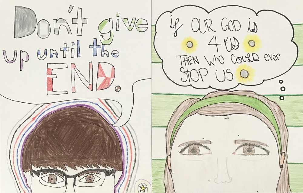 8th Grade Empowered Self-Portraits