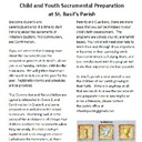 Child and Youth Sacramental Preparation at St. Basil's Parish