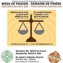 Come out for an Ecumenical Prayer Service on January 20th 4 PM