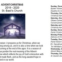 St. Basil's Advent and Christmas Schedule - 2019/20