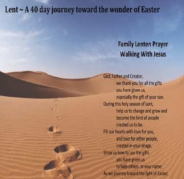 Image of Lenten prayer - click to open PDF