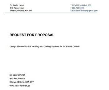 Request for Proposal - Design Services for the Heating and Cooling Systems