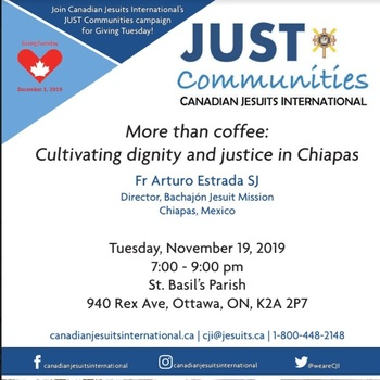 Come out for Cultivating dignity and justice in Chiapas on Tues Nov 19th