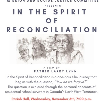 Upcoming Events: In the Spirit of Reconciliation - Nov 6