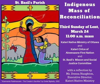 Indigenous Mass of Reconciliation at the 11 AM Mass - March 24