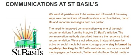 Keeping in Touch with St. Basil's!