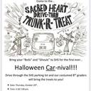 Sacred Heart Trunk or Treat! Thursday, October 29th 5:30 - 7 pm