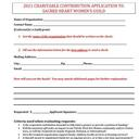 2021 Women's Guild Charitable Contribution Application
