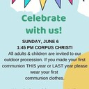 Corpus Christi Celebration - Sunday, June 6th