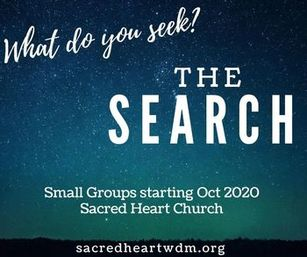 Small Group Registration for The Search - REGISTER TODAY!