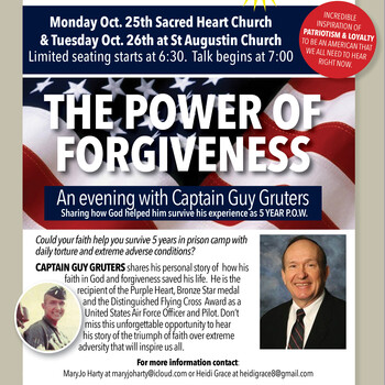 Special Speaker at Sacred Heart - Captain Guy Gruters