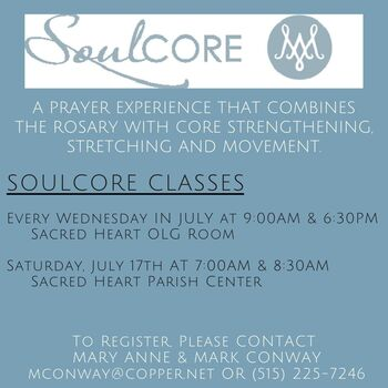 Summer SoulCore at Sacred Heart!