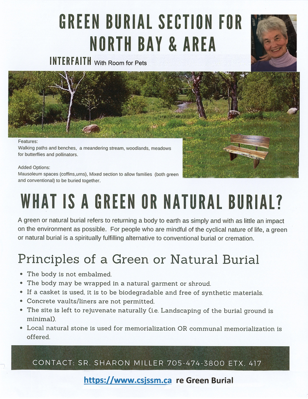 Green Burial Section for North Bay and Area