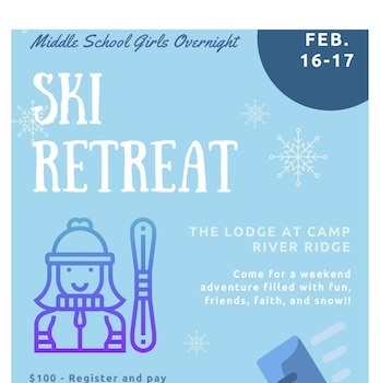 Middle School Girls ski retreat