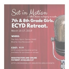 7th and 8th grade ECYD girls retreat