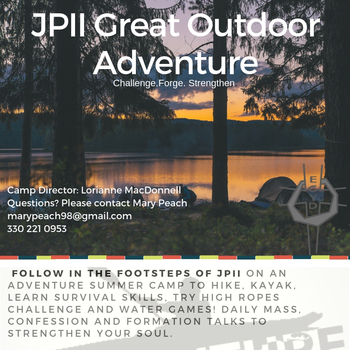 JP II Outdoor Adventure June 30-July 5, 2019