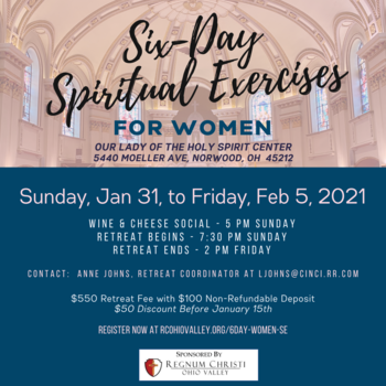6-Day Retreat for Women -- CANCELLED