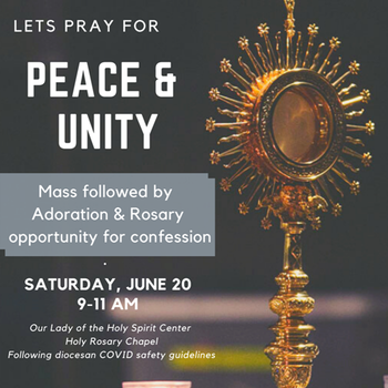 Pray for Peace -- a Special Mass with Fr. John Bullock