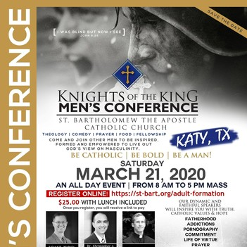 St. Bartholomew's Knight for Day Men's Conference