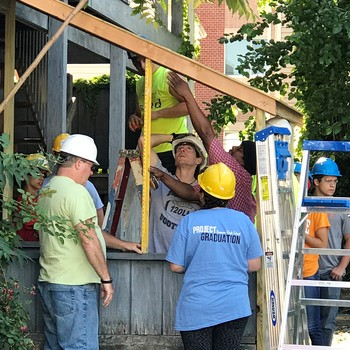 YES Habitat for Humanity Trip at work