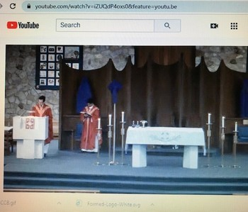 The Palm Sunday Mass Live-Streamed