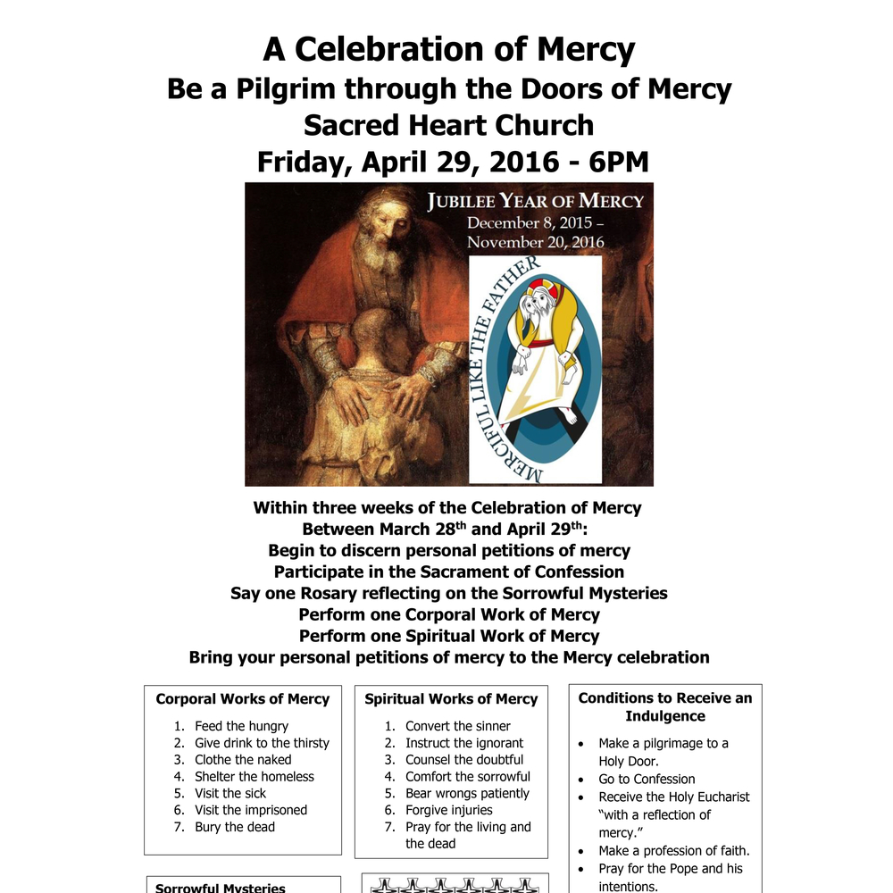 A Celebration Of Mercy Archdiocese Of Portland In Oregon