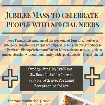Jubilee Mass to Celebrate People with Special Needs