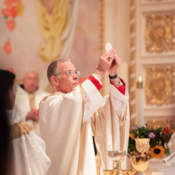 """""""The Church draws her life from the Eucharist""""<div>Rescinding the General Dispensation</div>"""