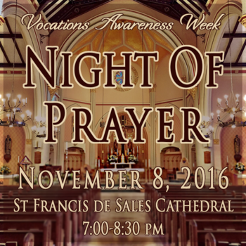 Vocations Awareness Week, Night of Prayer