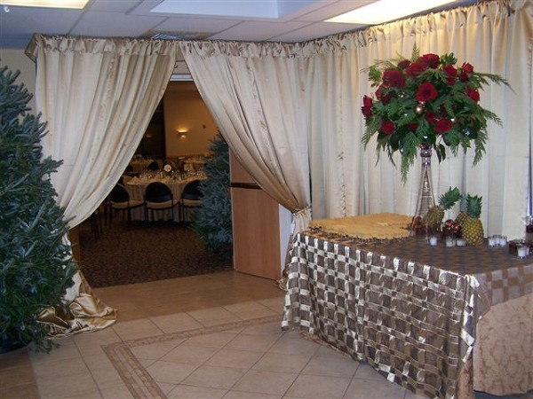 Entrance to Banquet Hall: Winter Wedding--2008