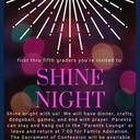 SHINE night - Nov 23 for 1st-5th graders