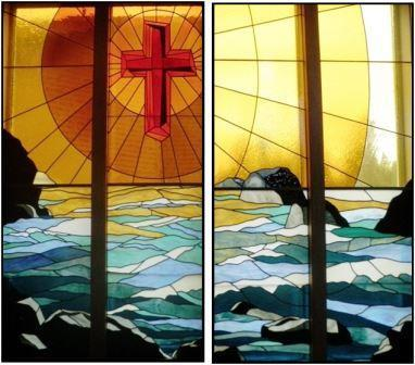 Baptism Font Stained Glass