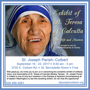 Exhibit of St Teresa of Calcutta, Her Life and Mission