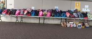 Backpacks Donated by SEAS Parishioners