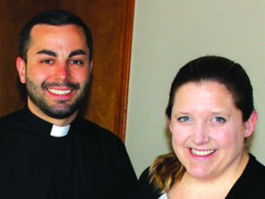 Photo of Father Amore and Mary Wilkerson