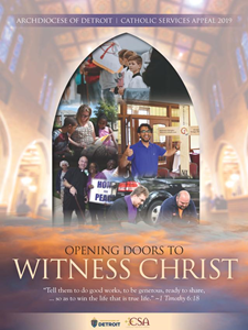 Opening Doors to Witness Christ Catholic Service Appeal 2019 logo