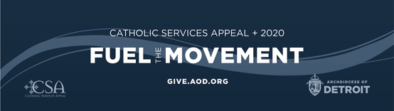 Catholic Services Appeal 2020 Fuel the Movement logo