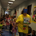 SAOPCS Kindergarteners celebrate reading with a Character Book Parade