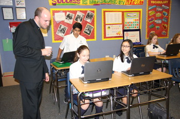 Vocations Director visits SAOPCS
