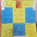 Our Sister Parish, Saint Veronica's sent us a lovely Thank You Poster!