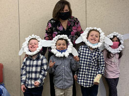 Sheep is the Word!!  Miss Julia's Pre-School Class happy to be part of Good Shepherd Sunday!