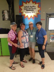 Ladies at Marywood Providing Lunch to Camp I Am Special