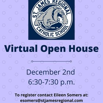 Virtual Open House- December 2nd!