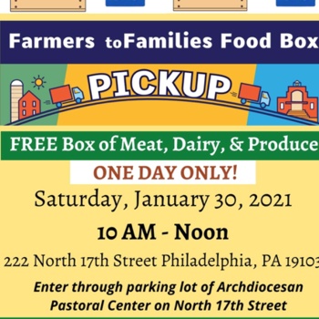 Archdiocese of Philadelphia Distributes Free Food Boxes- January 30, 2021