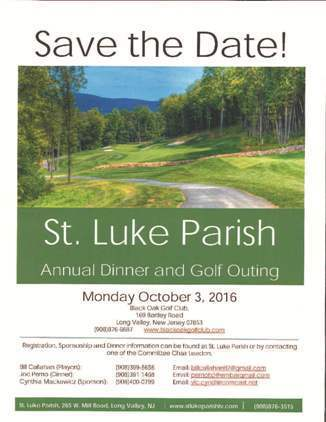 Golf Outing Flyer - 2016