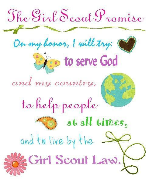 image regarding Girl Scout Promise and Law Printable referred to as Lady Scouts - St. Ann Church and Nationwide Shrine - Metairie, LA